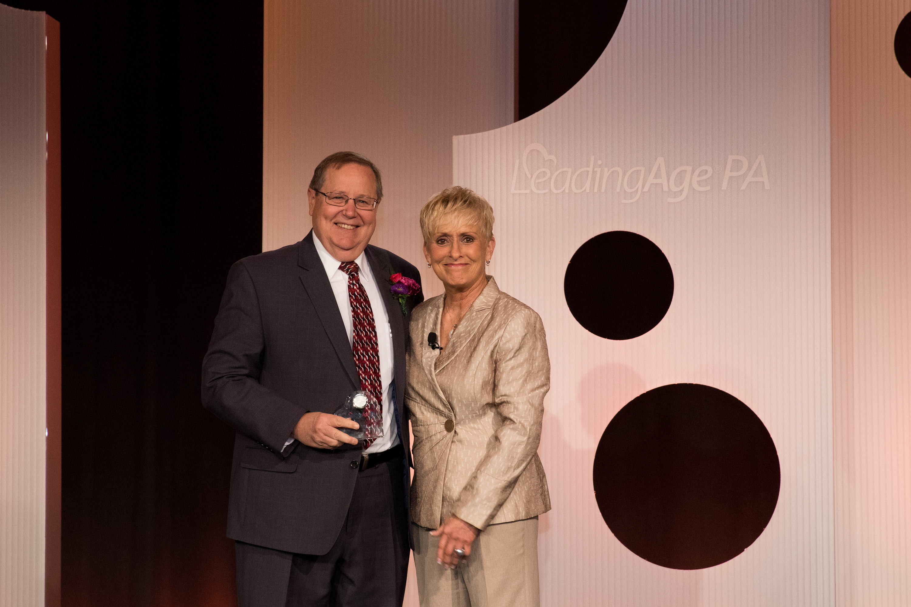 Gary Gardner, VP of Special Projects, Receives an Award from LeadingAge PA